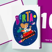 Tarjeta de aniversario. Un proyecto de Ilustración e Ilustración vectorial de Albert Baldó - 22.10.2018