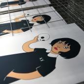 Estampación lámina para la ilustradora Gemma Quevedo. Un proyecto de Estampación de Print Workers Barcelona - 24.10.2018