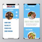 Prototipo Delivery comida saludable y Fitness. Un projet de Design graphique , et UI / UX de Juan Carlos Pineda M - 30.10.2018