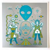 Sonido Gallo Negro / Mambo Cósmico. A Illustration project by Jorge Alderete - 11.13.2018