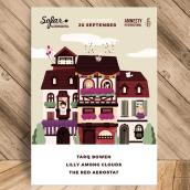 Poster for Sofar Sounds Nuremberg/Amnesty International. Um projeto de Design de cartaz e Ilustração de Sara Gummy - 13.10.2017