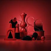 Red Space. Un proyecto de Diseño, Ilustración, 3D, Arquitectura, Bellas Artes, Arquitectura interior y Modelado 3D de Amazing Monkeys - 20.11.2018