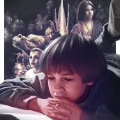 The NeverEnding Story Poster (AMP). Um projeto de Desenho a lápis, Ilustração e Ilustração digital de Juan Saniose - 23.11.2018