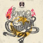 """Cartel teatral """"El juego de la Guerra"""". Um projeto de Design, Ilustração e Ilustração digital de Tilo - 29.11.2018"""
