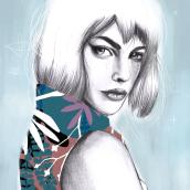 Mi Proyecto del curso: Retrato con lápiz, técnicas de color y Photoshop. A Portrait illustration project by camilo182 - 12.03.2018