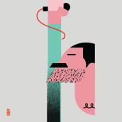 Caricature Resolution 2018. Un proyecto de Ilustración, Ilustración vectorial, Ilustración digital e Ilustración de retrato de Maria Picassó i Piquer - 31.01.2018