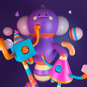 MÁS COSAS 3D. Un progetto di Illustrazione, 3D , e Character design 3D di Aarón Martínez - 21.12.2018