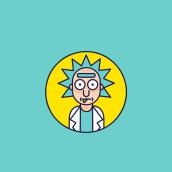 Rick and Morty - Icon set. A Design, Illustration, Comic, Vektorillustration, Icon-Design und Zeichnung project by Beatriz de la Cruz Pinilla - 03.01.2019