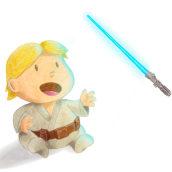 Luke Skywalker baby.. A Digital illustration project by Cristian Iborra Pinero - 01.07.2019