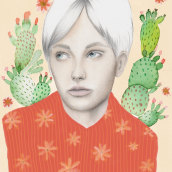 Mi Proyecto del curso: Retrato con lápiz, técnicas de color y Photoshop. A Illustration project by Eryka Ilarreta - 01.13.2019