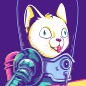 Cats Attacks. Un projet de Illustration, Character Design , et Sérigraphie de Eneri Mateos - 14.01.2019