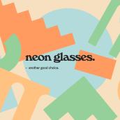 Neon Glasses. A 3-D, Kunstleitung, Br, ing und Identität, Postproduktion und 3-D-Animation project by Alejandro Herrada González - 15.01.2019