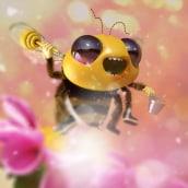 Be like a Bee. Un proyecto de 3D, Dirección de arte, Diseño de personajes, Ilustración digital, Modelado 3D y Diseño de personajes 3D de Guille Amengual - 14.01.2019