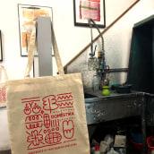 PRIMERA IMPRESIÓN. Primer evento offline de Domestika. Un proyecto de Serigrafía de Print Workers Barcelona - 28.01.2019