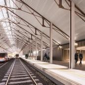 Estación Canfranc. Um projeto de 3D, Arquitetura e Infografia de AMO 3D Visual - 28.01.2019