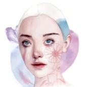 Mi Proyecto del curso: Retrato ilustrado en acuarela. Un proyecto de Ilustración de retrato y Pintura a la acuarela de Valeria Montes - 31.01.2019