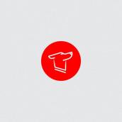 Space dog logo. Un projet de Design , Br, ing et identité , et Création de logo de andjka - 01.02.2019
