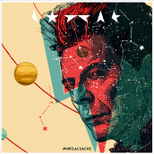 """The Man Who Fell to Earth"" David Bowie"". A Design, Illustration, Werbung, Grafikdesign, Kreativität, Plakatdesign, Digitale Illustration, Porträtillustration und Digitales Marketing project by Francisco J. Eizaguirre - 04.02.2019"
