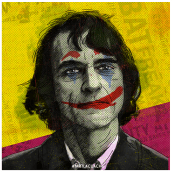 The Joker . A Design, Illustration, Werbung, Grafikdesign, Kreativität, Plakatdesign, Digitale Illustration, Porträtillustration und Digitales Marketing project by Francisco J. Eizaguirre - 04.02.2019