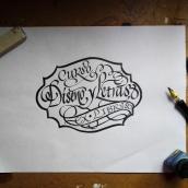 Mi Proyecto: Caligrafía para un Ex libris. Un proyecto de Diseño, Caligrafía y Lettering de Diana M. Beltrán Noriega - 12.02.2019