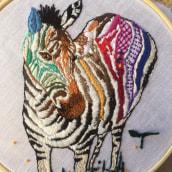 Mi Proyecto del curso: Técnicas de bordado: ilustrando con hilo y aguja. Un proyecto de Bordado de Sandra Irimia - 13.02.2019