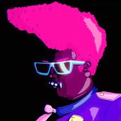 Adult Swim -  Tropical Cop Tales. Um projeto de Ilustração, Motion Graphics, Cinema, Vídeo e TV, Animação, Direção de arte, Animação de personagens e Animação 2D de Numecaniq - 15.01.2019