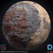 Material Blending - Brick Wall. Un progetto di 3D , e Videogiochi di Angel Fernandes - 16.09.2018