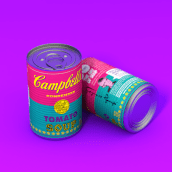 Campbell's Tomato Soup. A Photograph, 3D, Art Direction, Graphic Design, Industrial Design, Product photograph, Photographic Lighting, Digital illustration, and 3d modeling project by Harry Sequini - 02.26.2019