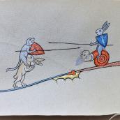 Justa entre Conejos y Cánidos. A Illustration project by Scriptorium Yayyan - 02.27.2019