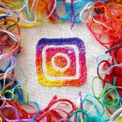 Imagen de promoción para Mercado Instagram. Un proyecto de Publicidad, Artesanía, Redes Sociales, Diseño de iconos, Bordado e Ilustración textil de Silvia Peligro - 01.12.2017