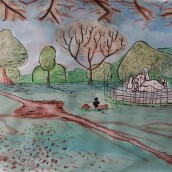 Mi Proyecto del curso: De principiante a superdibujante. A Illustration, Painting, Drawing, Digital illustration, Watercolor Painting, and Artistic drawing project by Alejandra Aravena - 03.03.2019