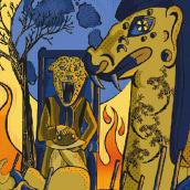 Meu projeto do curso: Carteles de rock ilustrados. A Illustration, Vektorillustration, Zeichnung, Digitale Illustration, Concept Art und Artistische Zeichnung project by Maxwell Machado - 07.03.2019