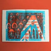 UP IN THE GALLERY. Un proyecto de Ilustración, Dirección de arte, Diseño editorial, Bellas Artes, Producción y Encuadernación de La Granja Estudio Editorial - 14.03.2019