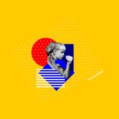 Collage #MásCreativas. A Collage und Grafikdesign project by Lucía Alonso - 08.03.2019