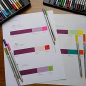 Mi Proyecto del curso: Teoría del color para proyectos textiles. A Design, Product Design, and Embroider project by deianeira.medina.reina - 03.25.2019