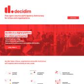 Sitio web de Decidim.org. Um projeto de Web design e Desenvolvimento Web de Javier Usobiaga Ferrer - 28.10.2018