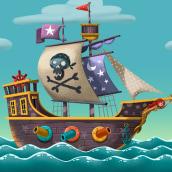 """El Pirata despistat, canción del grupo musical """"El Pot Petit"""". Un proyecto de Animación, Ilustración e Ilustración digital de Montse Casas Surós - 28.03.2019"""