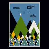 Carteles para la gira de Fito Paez por Brasil (2018). Um projeto de Design, Ilustração, Design gráfico e Design de cartaz de max rompo - 21.11.2018