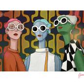 Tres Amigas. Un proyecto de Diseño de personajes e Ilustración de Helena Valenzuela Widerström - 22.01.2019