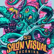 Salón Visual Bacánika . Um projeto de Design de cenários, Ilustração e Ilustração vetorial de Juan Villamil - 22.04.2019