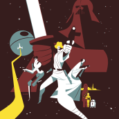 Star Wars Day. A Poster Design, Character Design, and Digital illustration project by José Luis Ágreda - 05.05.2019