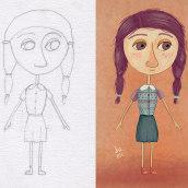 Proyecto: Construye un amigo: del lápiz al movimiento. A 2D Animation, Character Design & Illustration project by Brenda Matilla - 05.07.2019