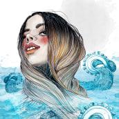 Mi Proyecto del curso: Retrato ilustrado en acuarela. A Zeichnung, Illustration und Porträtillustration project by alicia martorell - 27.06.2018