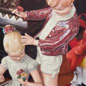 Serie de mujeres en porcelana. Fotografías de mercados de las pulgas, las mujeres de porcelana están reinterpretadas en plasticina.. Um projeto de Ilustração, Artes plásticas e Pintura de Jacinta Besa González - 19.05.2019