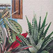 Ya no somos plantas de interior.. Um projeto de Ilustração, Artes plásticas e Pintura de Jacinta Besa González - 19.05.2019