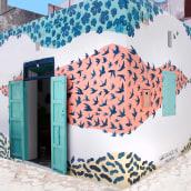 Intervención Mural en Assilah. A Street Art & Illustration project by Pablo Salvaje - 05.22.2018