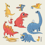 Dinosaurios I. Un projet de Illustration de Raeioul - 23.05.2019