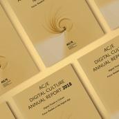 Anuario AC/E de Cultura Digital 2018. Um projeto de Design editorial e Design gráfico de Emiliano Molina - 01.04.2018