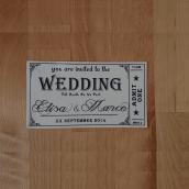 Diseño invitaciones de boda. Um projeto de Design gráfico de Sara Manserra - 03.06.2019