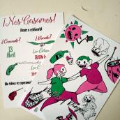 invitación de boda.. Un proyecto de Diseño gráfico e Ilustración de La Alex - 04.06.2019